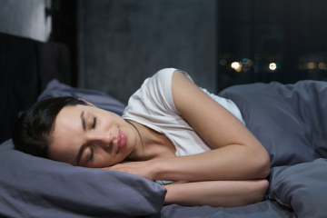 woman getting a good nights rest